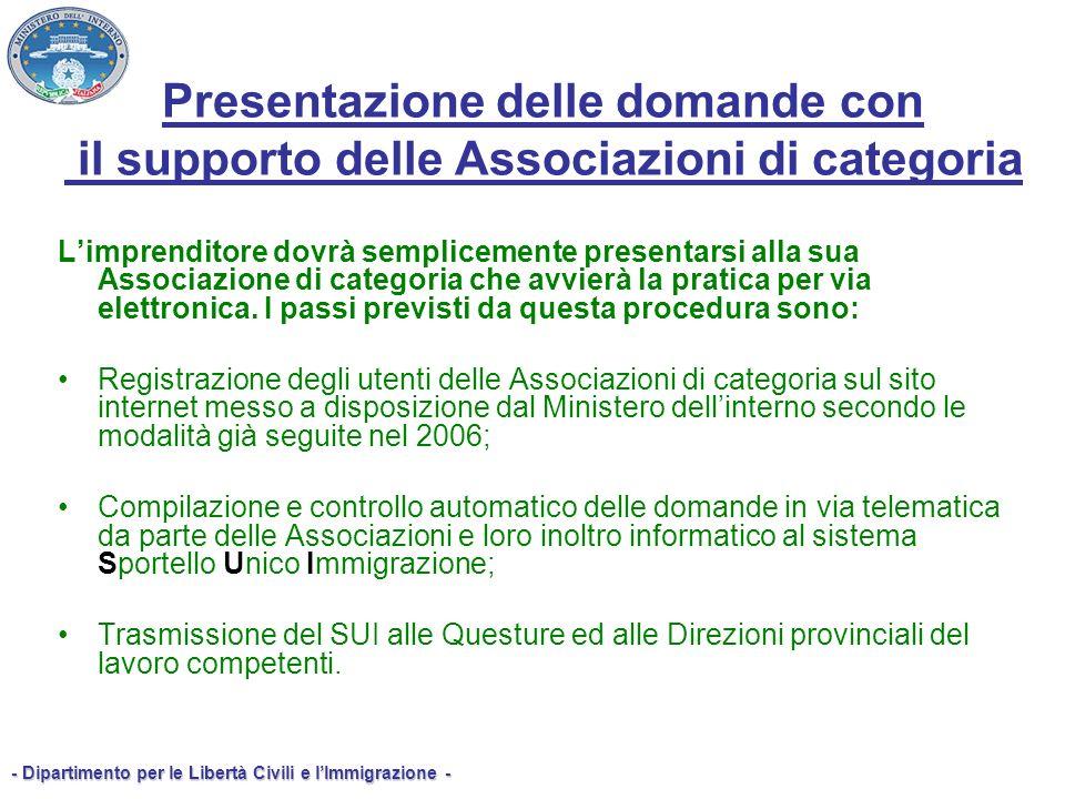 Presentazione delle domande con il supporto delle Associazioni di categoria