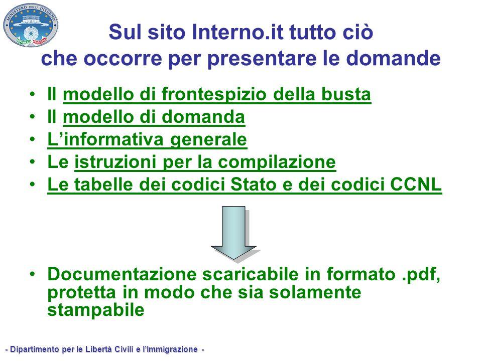 Sul sito Interno.it tutto ciò che occorre per presentare le domande