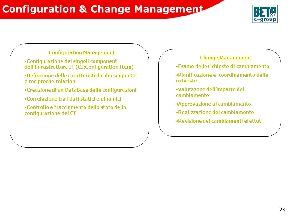 Configuration & Change Management