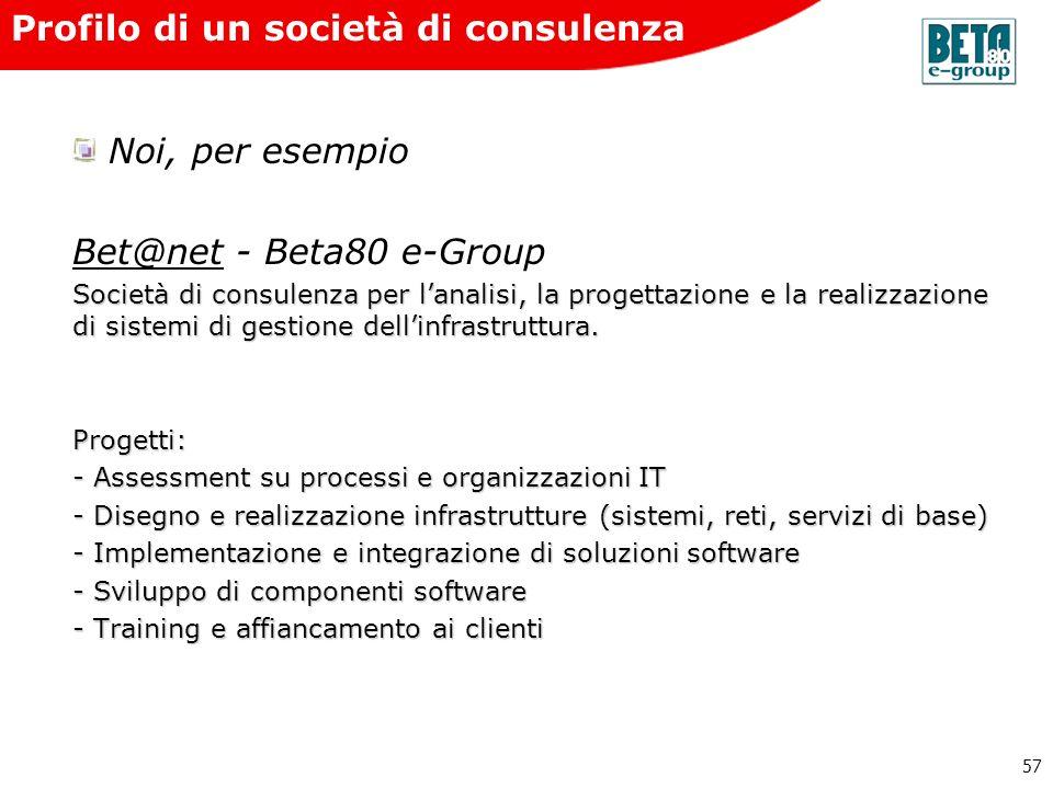 Profilo di un società di consulenza