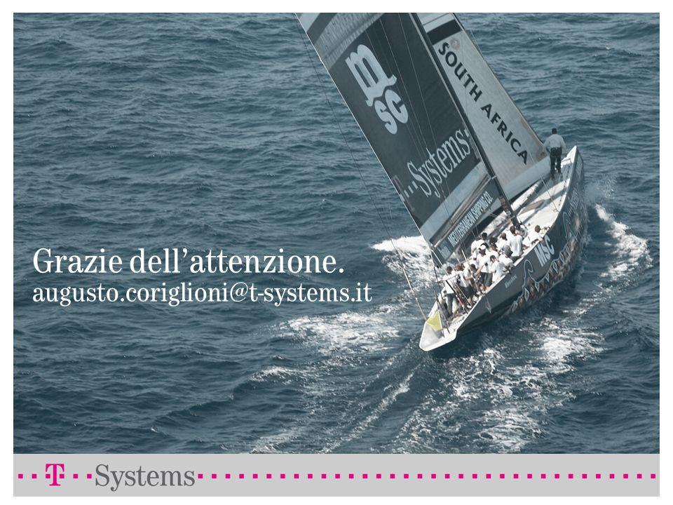 Grazie dell'attenzione. augusto.coriglioni@t-systems.it