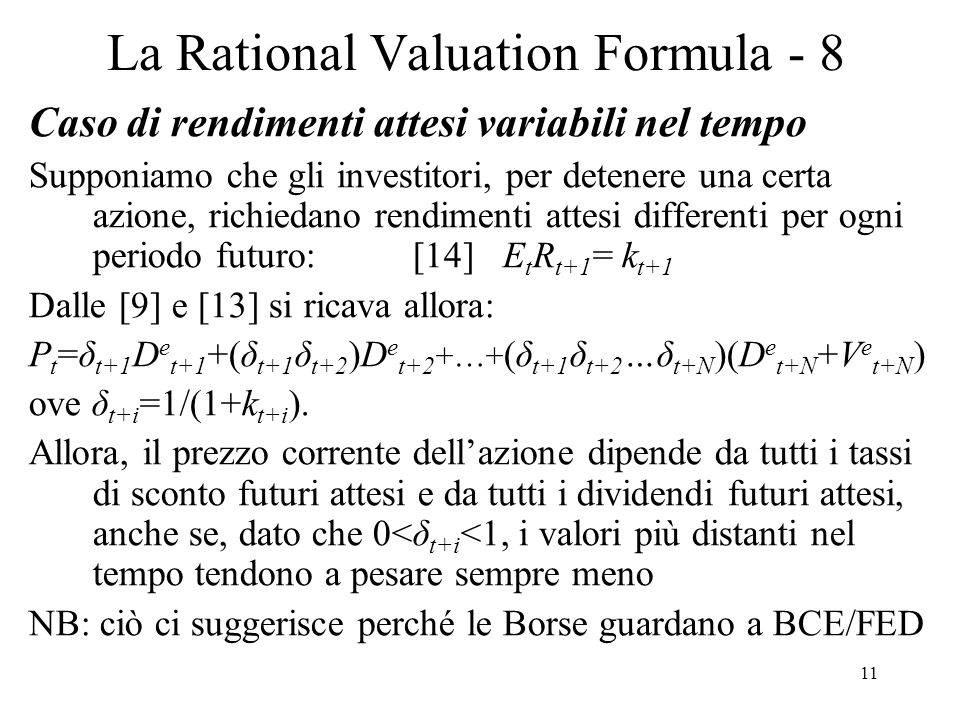 La Rational Valuation Formula - 8