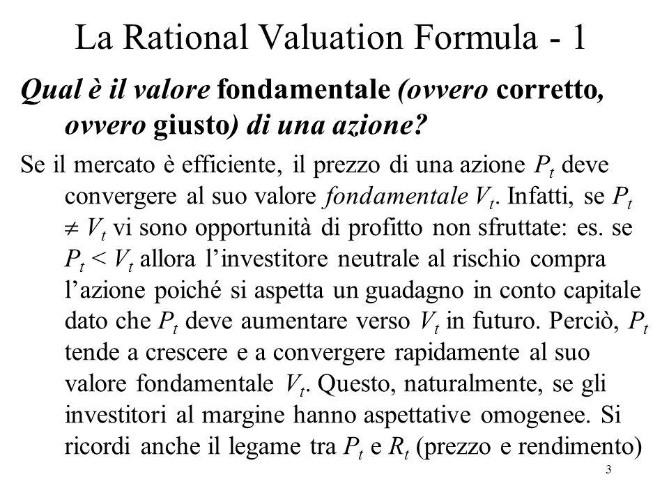 La Rational Valuation Formula - 1
