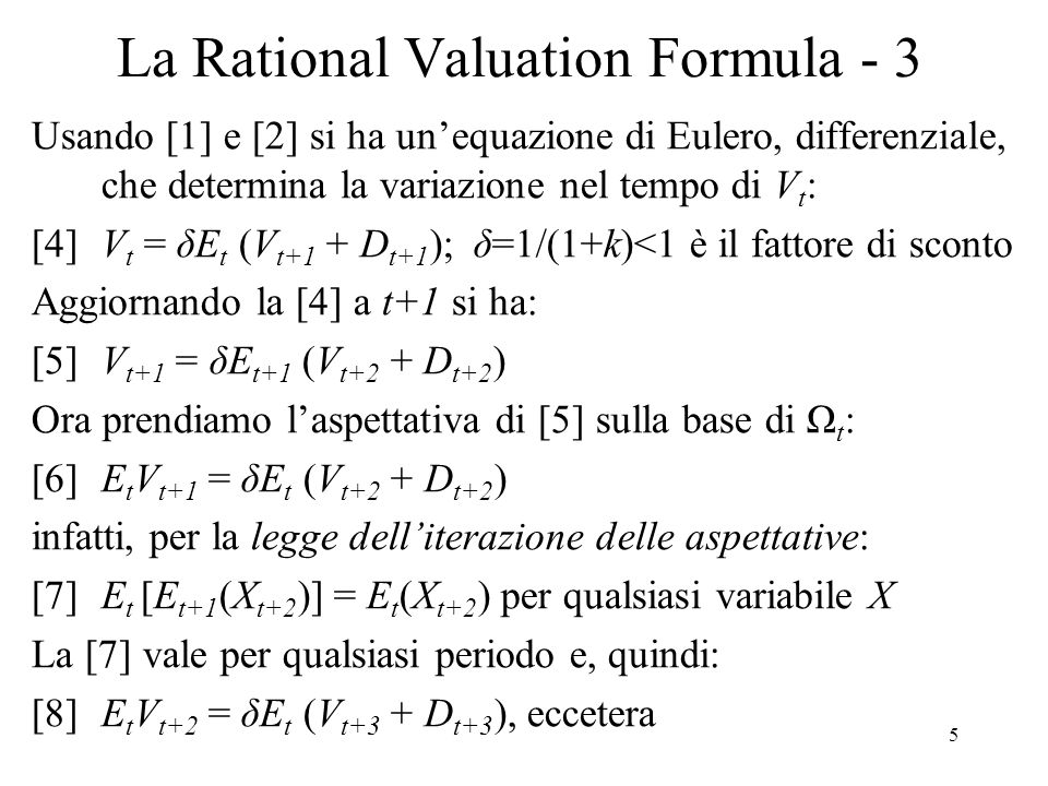 La Rational Valuation Formula - 3