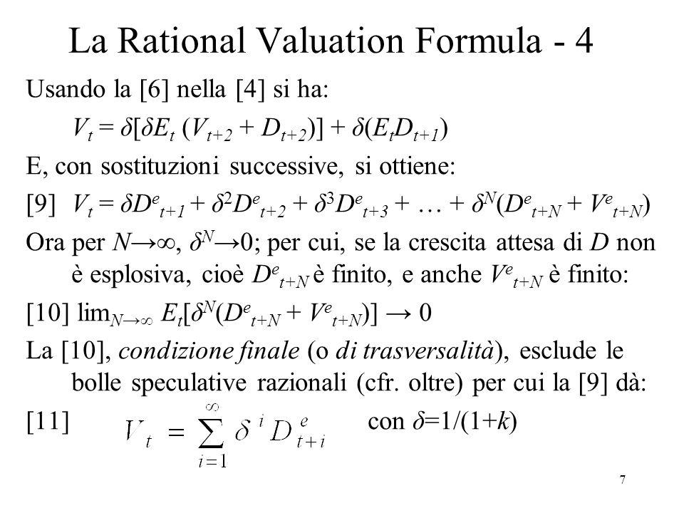 La Rational Valuation Formula - 4
