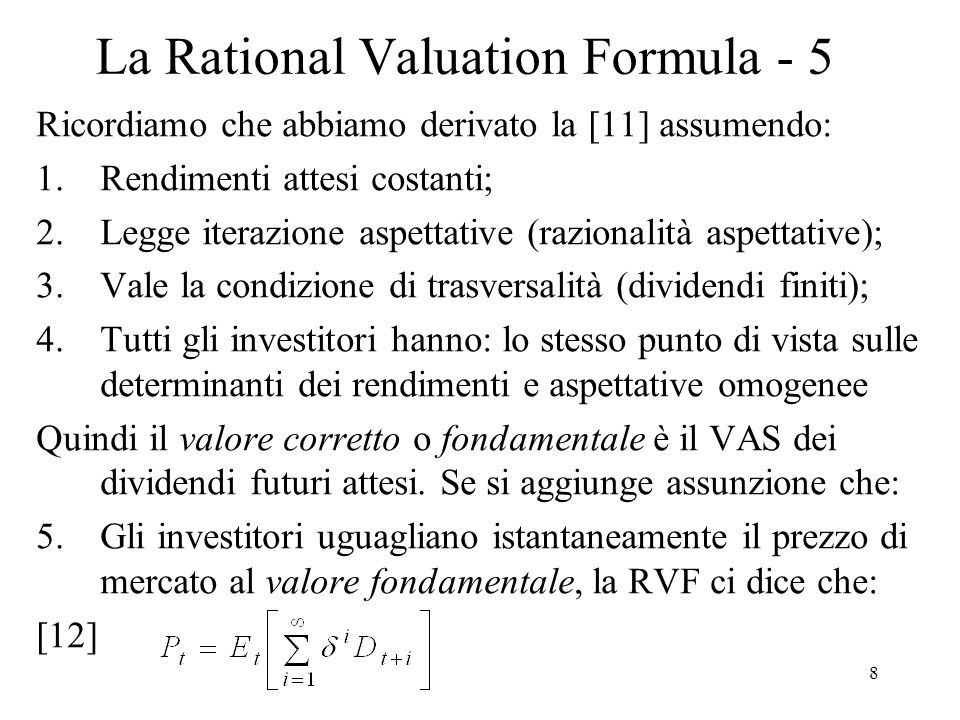 La Rational Valuation Formula - 5