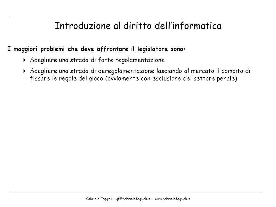 Introduzione al diritto dell'informatica
