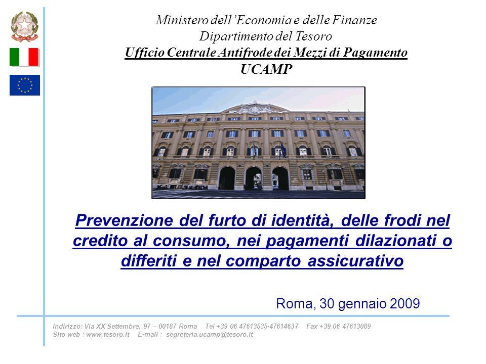 Prevenzione del furto di identità, delle frodi nel credito al consumo, nei pagamenti dilazionati o differiti e nel comparto assicurativo