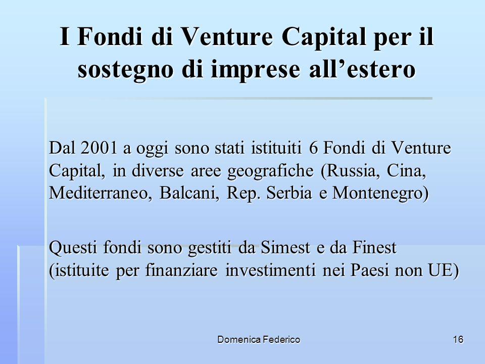I Fondi di Venture Capital per il sostegno di imprese all'estero