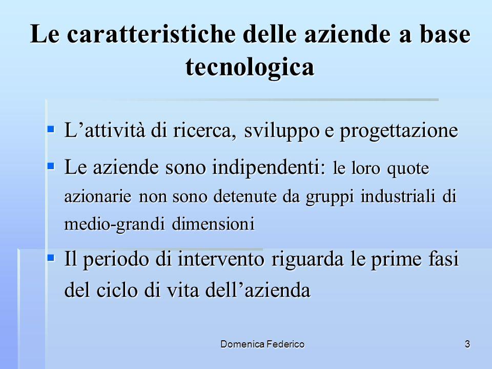 Le caratteristiche delle aziende a base tecnologica
