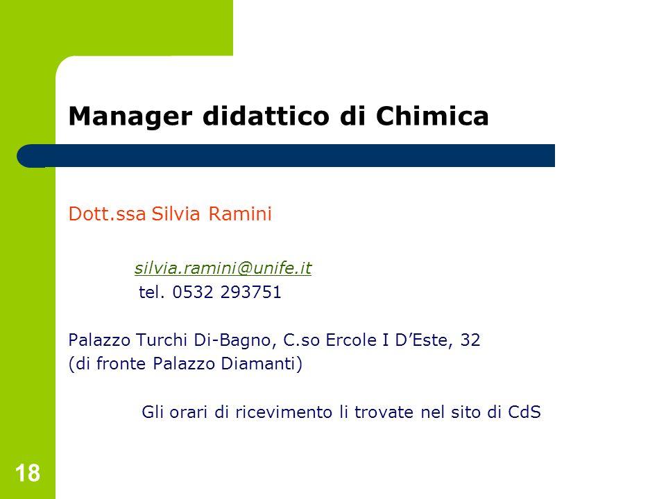 Manager didattico di Chimica