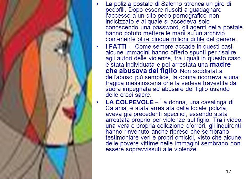 La polizia postale di Salerno stronca un giro di pedofili