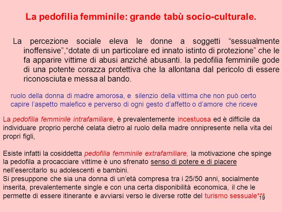 La pedofilia femminile: grande tabù socio-culturale.