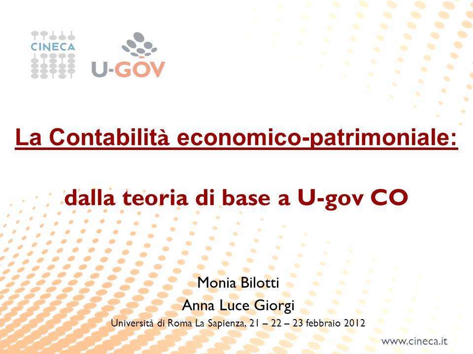 La Contabilità economico-patrimoniale: dalla teoria di base a U-gov CO