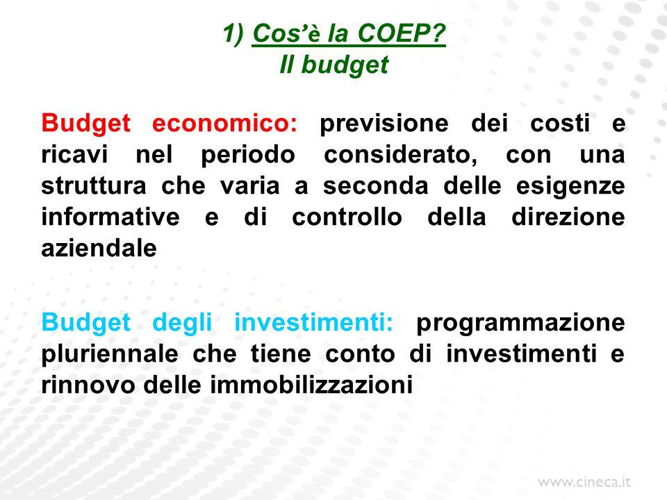 1) Cos'è la COEP Il budget