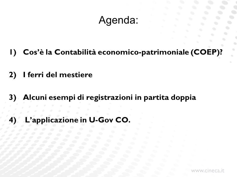 Agenda: Cos'è la Contabilità economico-patrimoniale (COEP)