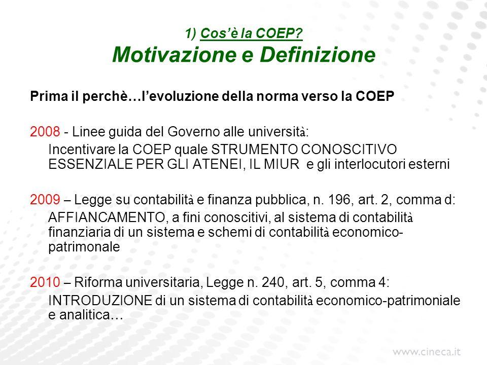 1) Cos'è la COEP Motivazione e Definizione