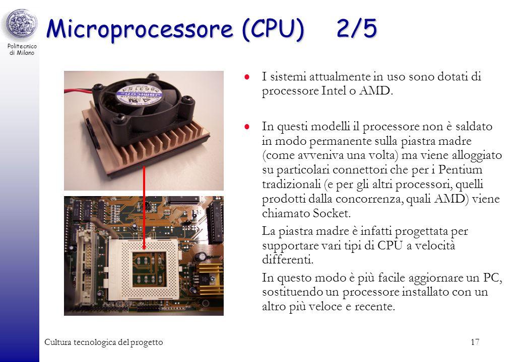 Microprocessore (CPU) 2/5