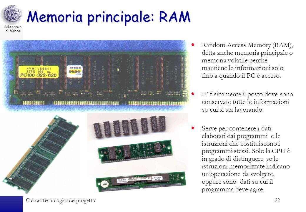 Memoria principale: RAM