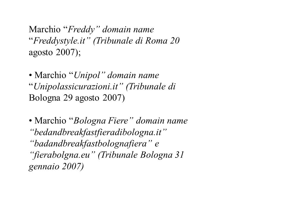Marchio Freddy domain name