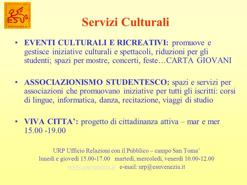 Servizi Culturali
