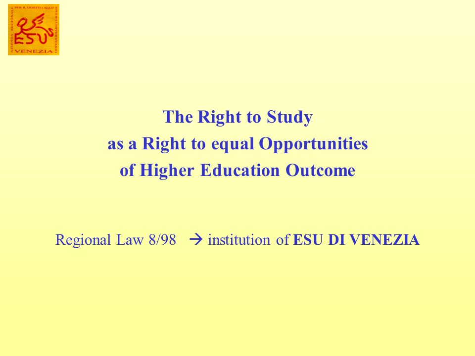 as a Right to equal Opportunities of Higher Education Outcome
