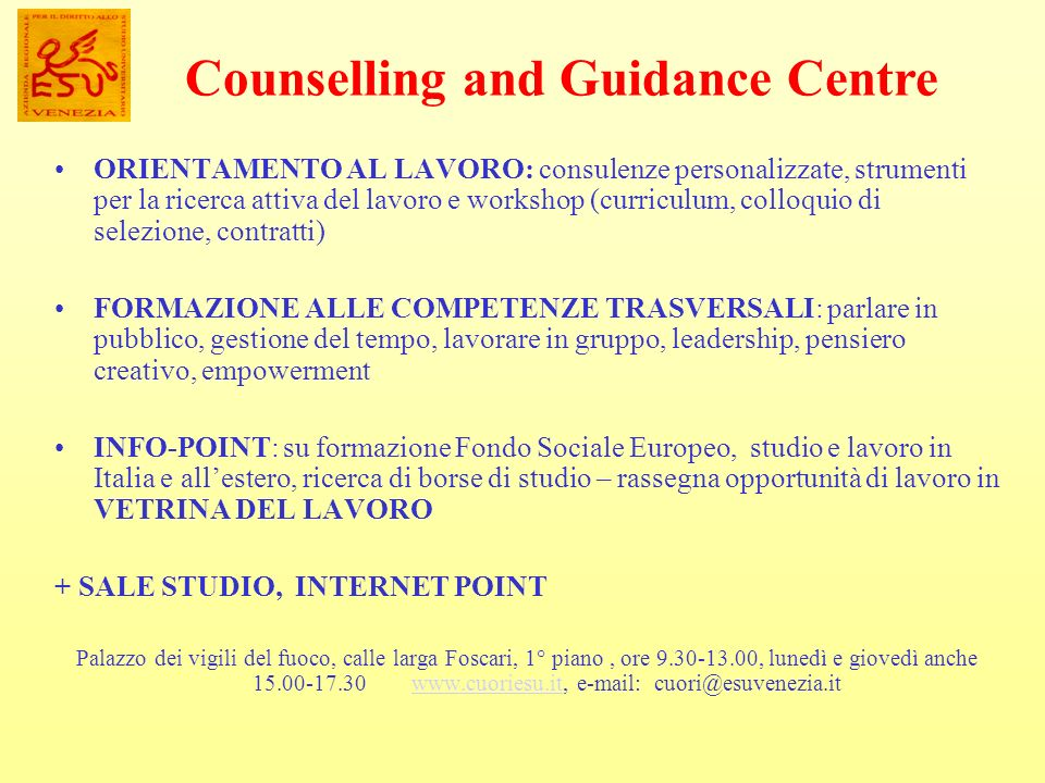 Counselling and Guidance Centre