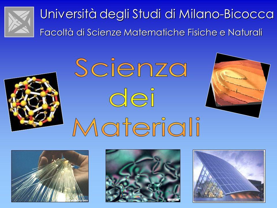 Scienza dei Materiali Università degli Studi di Milano-Bicocca