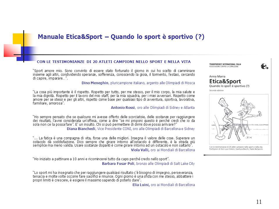 Manuale Etica&Sport – Quando lo sport è sportivo ( )