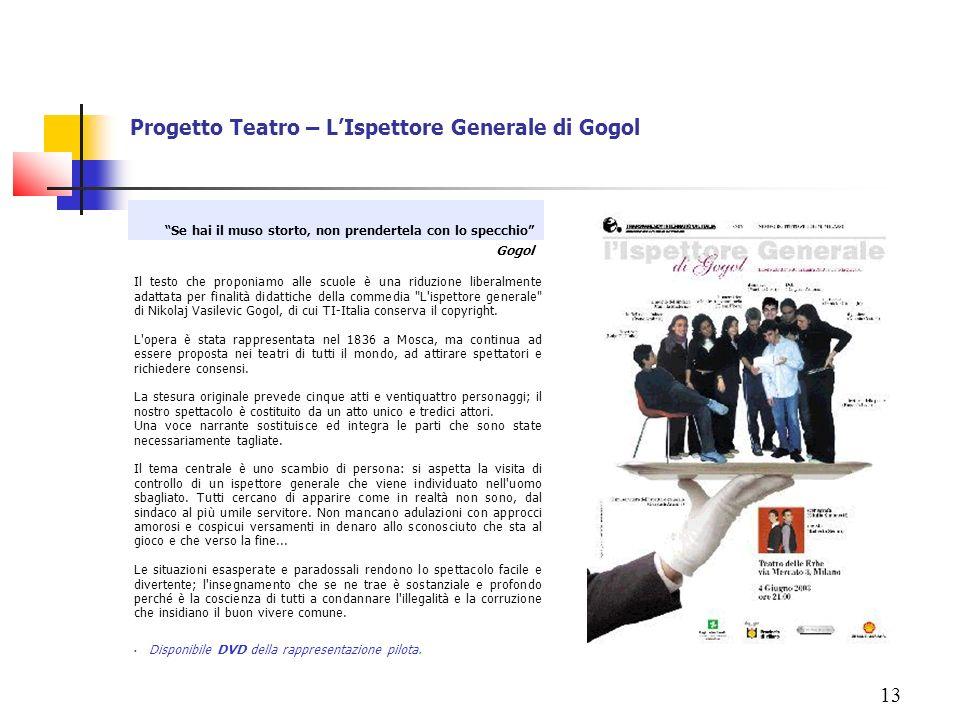 Progetto Teatro – L'Ispettore Generale di Gogol