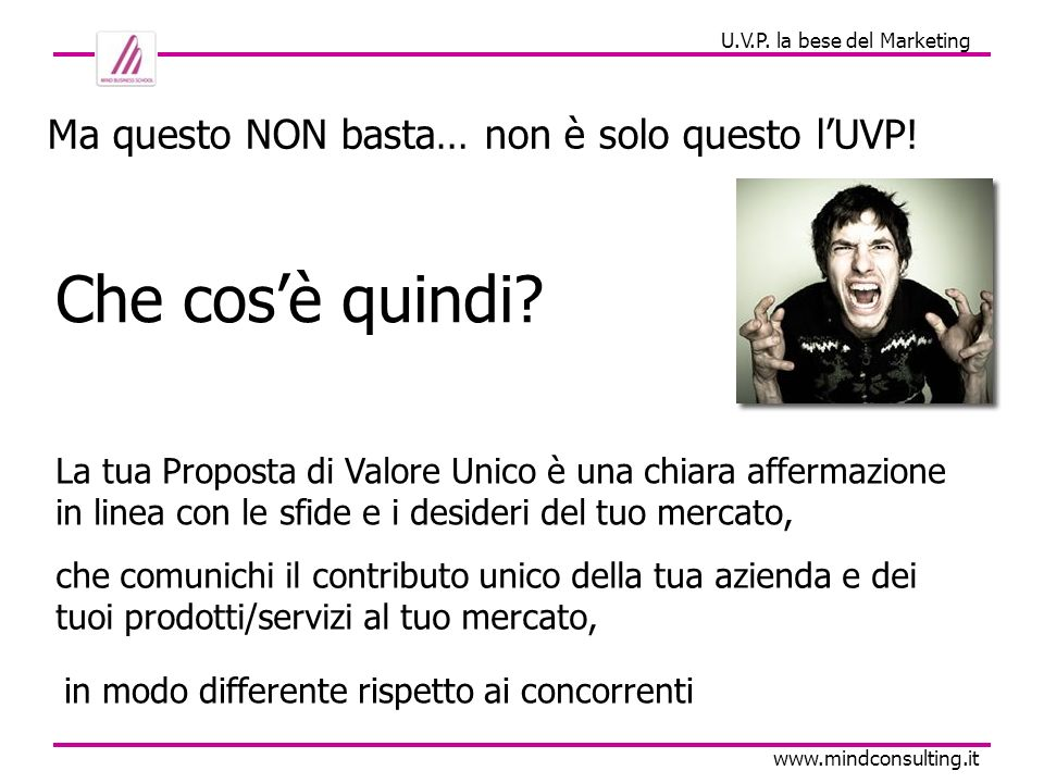 U.V.P. la bese del Marketing