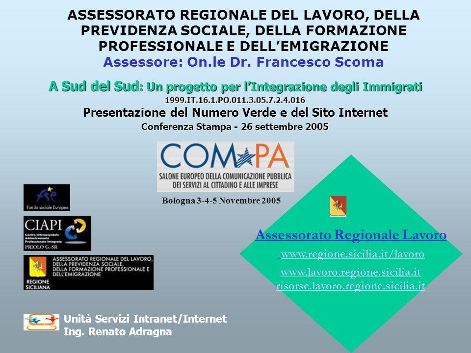 Assessorato Regionale Lavoro www.regione.sicilia.it/lavoro