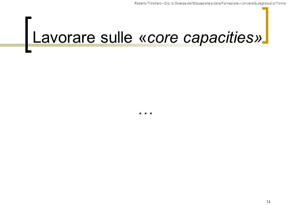 Lavorare sulle «core capacities»