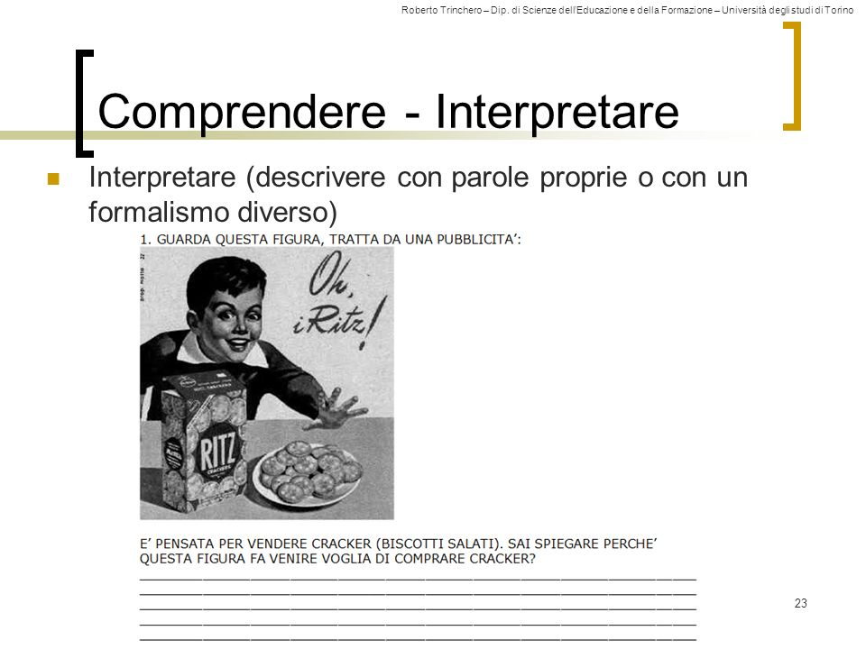 Comprendere - Interpretare
