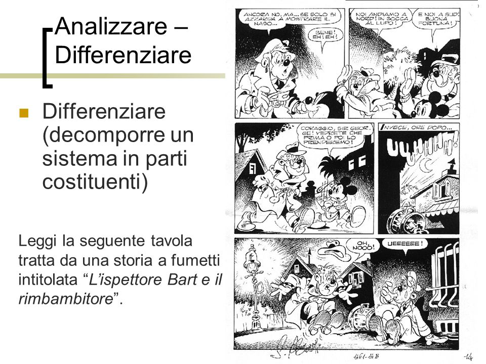Analizzare – Differenziare