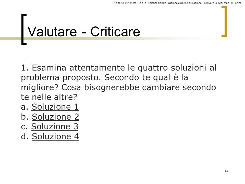 Valutare - Criticare