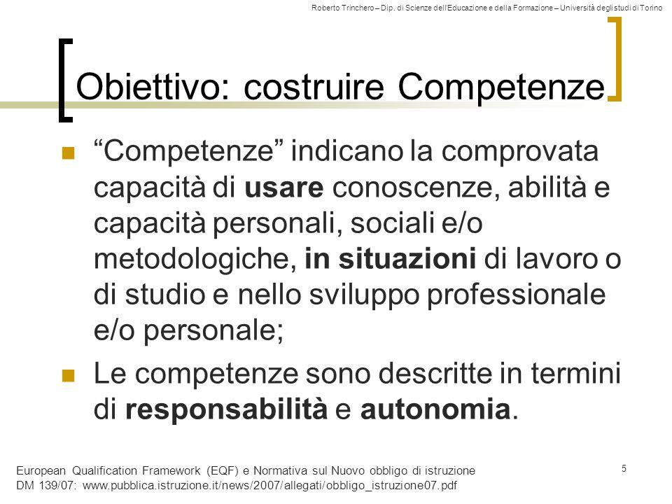 Obiettivo: costruire Competenze