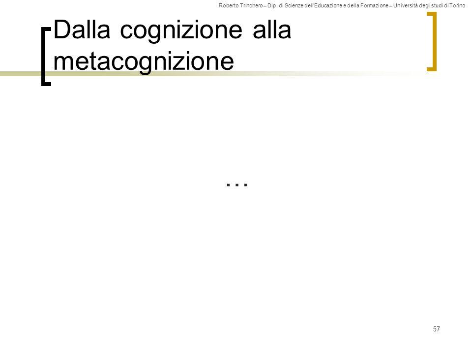 Dalla cognizione alla metacognizione