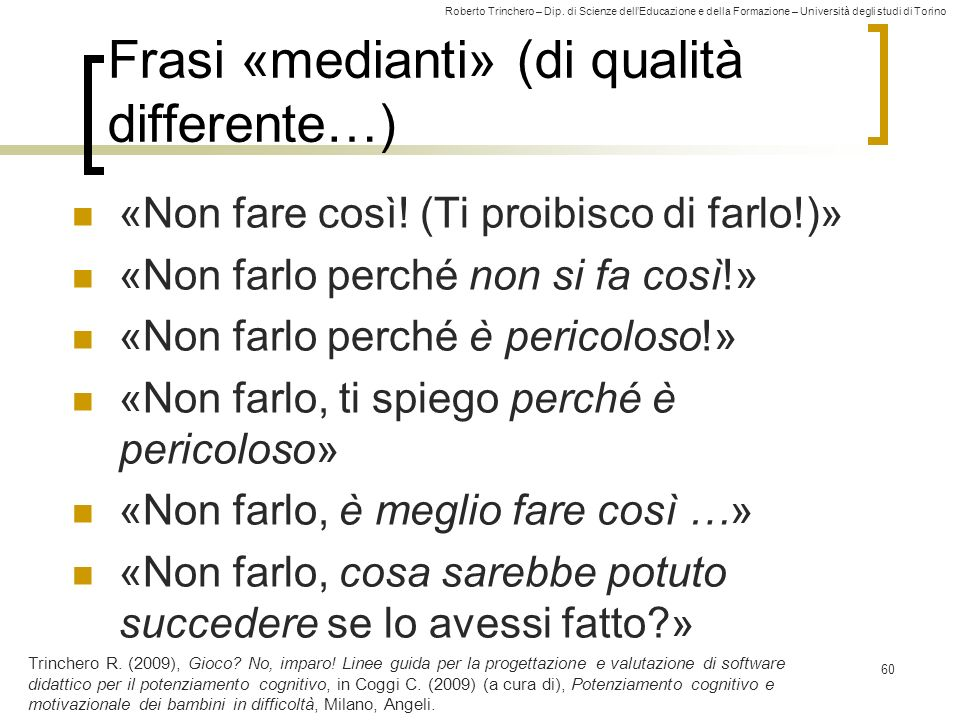 Frasi «medianti» (di qualità differente…)