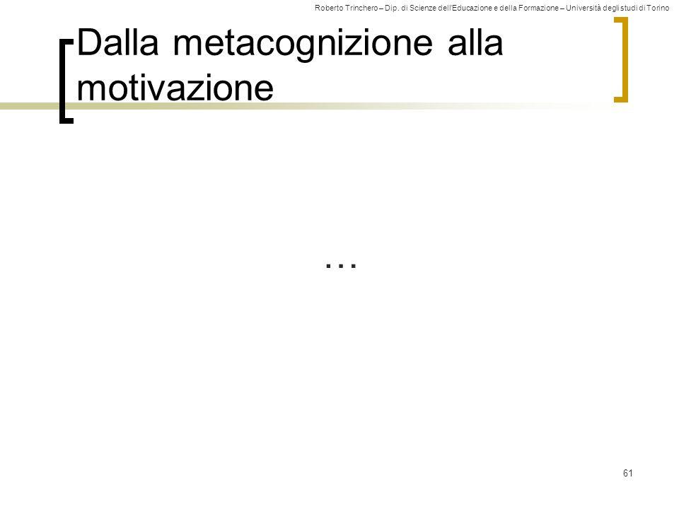 Dalla metacognizione alla motivazione