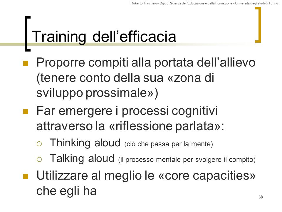 Training dell'efficacia