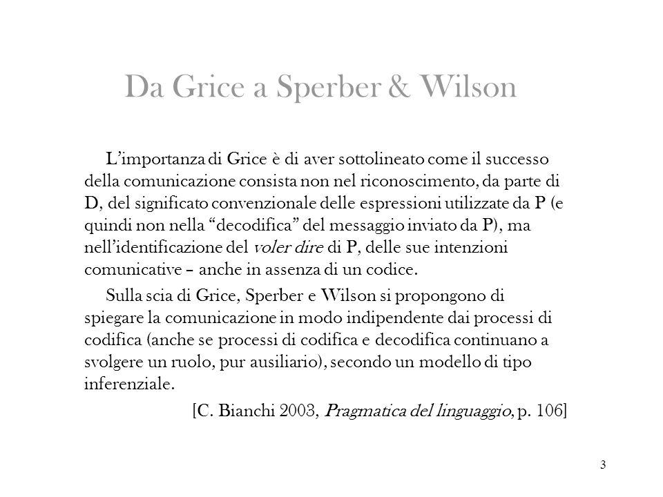 Da Grice a Sperber & Wilson