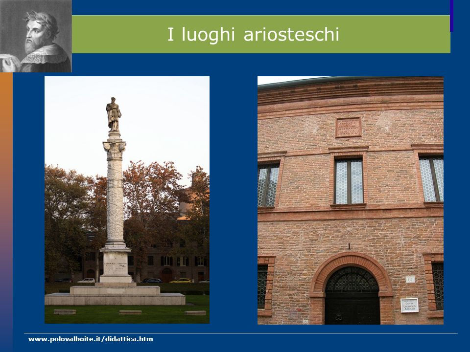 I luoghi ariosteschi www.polovalboite.it/didattica.htm