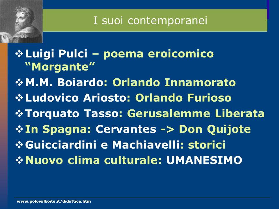 Luigi Pulci – poema eroicomico Morgante