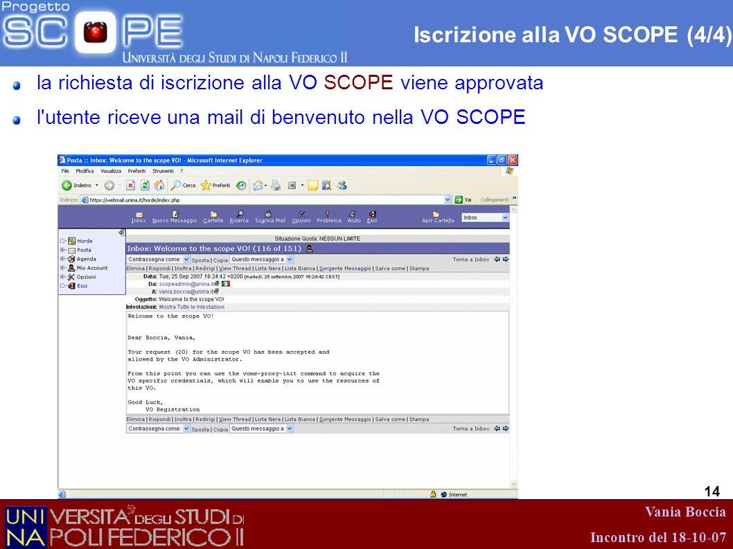 Iscrizione alla VO SCOPE (4/4)
