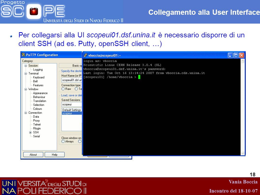 Collegamento alla User Interface