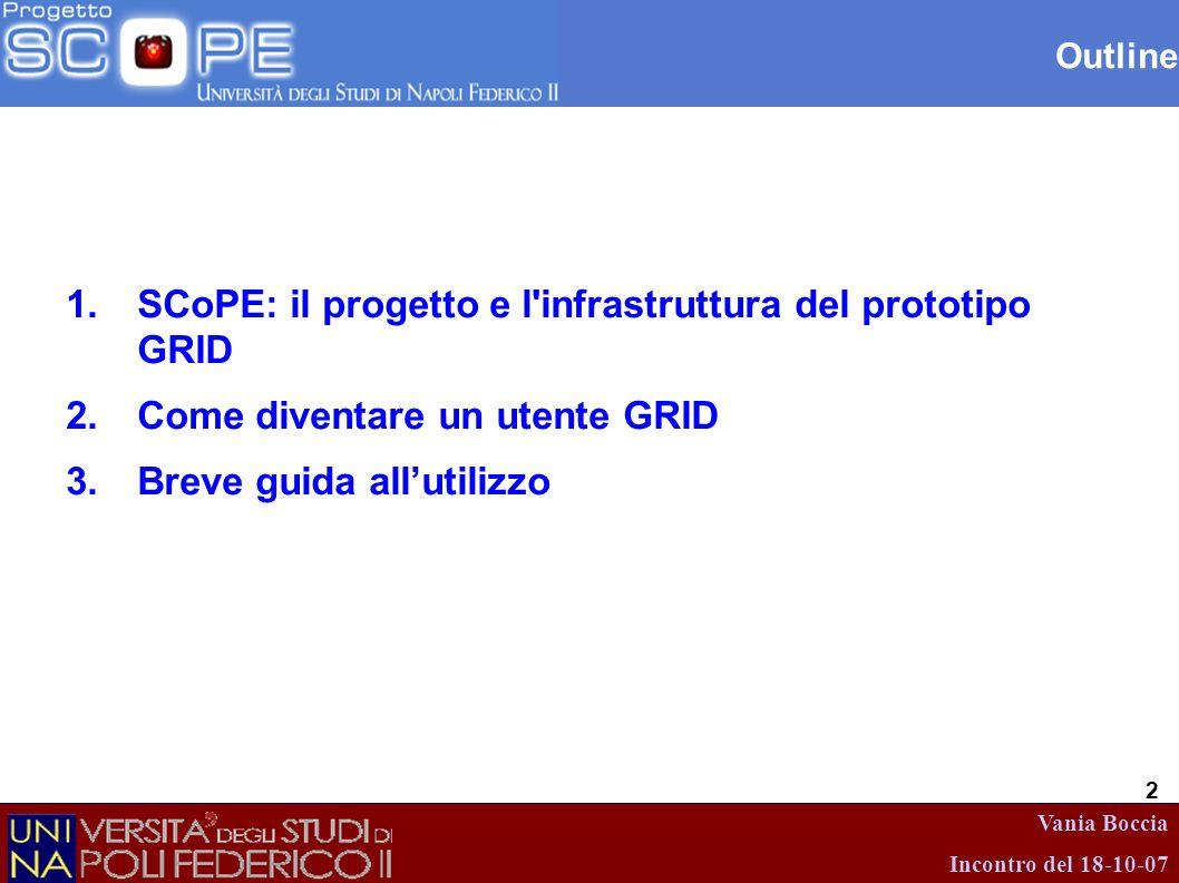 SCoPE: il progetto e l infrastruttura del prototipo GRID