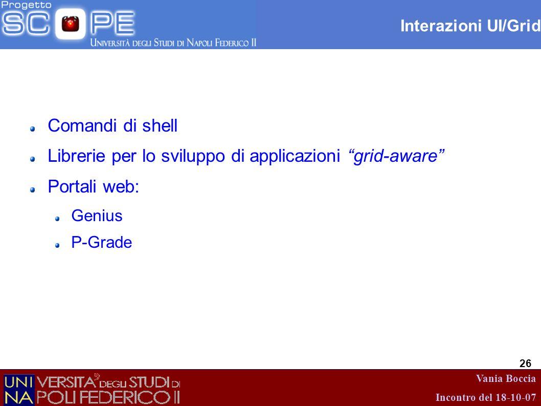 Librerie per lo sviluppo di applicazioni grid-aware Portali web: