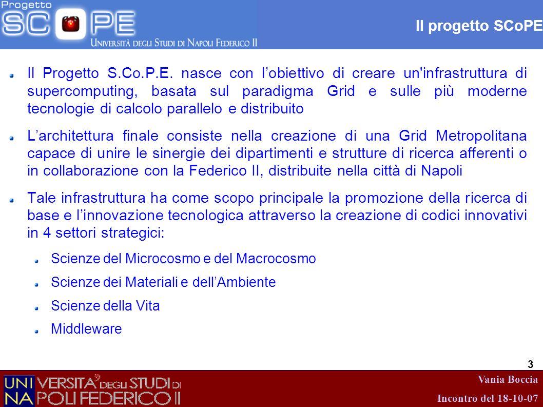 Il progetto SCoPE