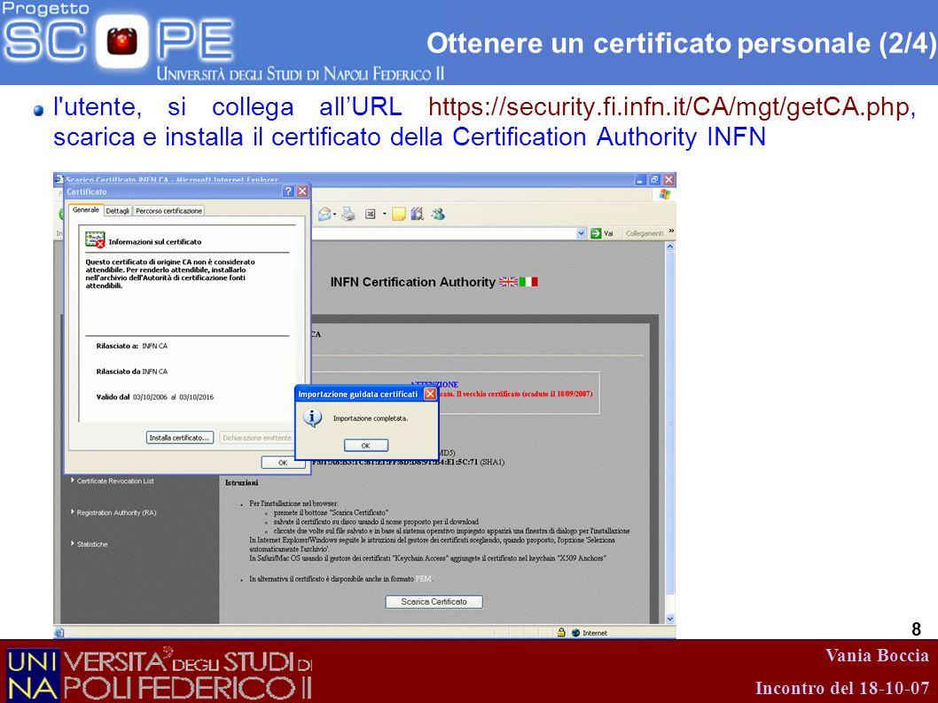 Ottenere un certificato personale (2/4)